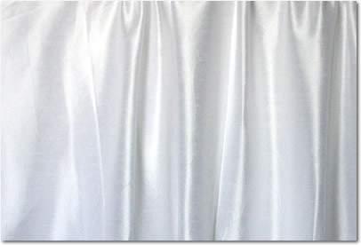 """White Dupioni - 96"""" Round"""
