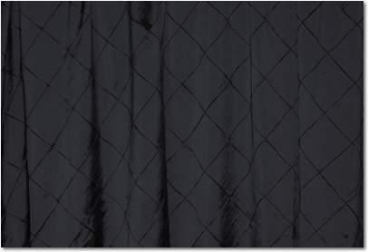 """Black Pintuck - 90""""x132"""" Drape"""