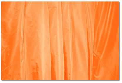 "Tangerine Taffeta - 126"" round"