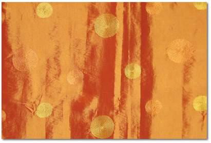 "Saffron Polka Taffeta - 72"" Square"