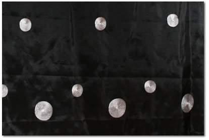 "Black Polka Taffeta - 72"" Square"