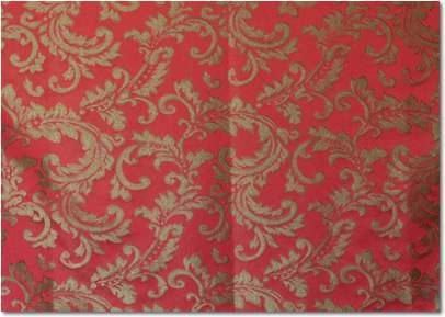 Red Gold Damask