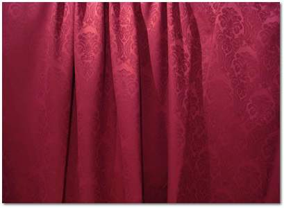 "Burgundy Wellington Damask - 120"" Round"