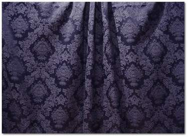Navy Wellington Damask