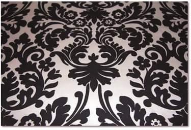 Black & Ivory Damask