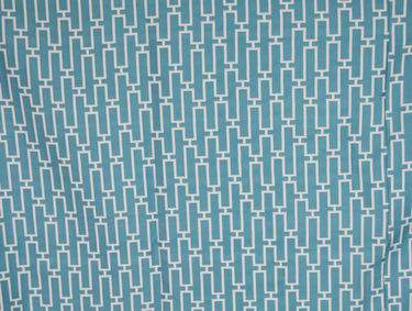 Turquoise & White Linear