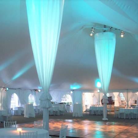 Tents Center Pole Swag Rentals   Event Tent Rental