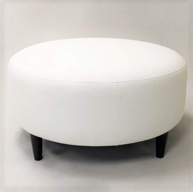 Astounding Round White Ottoman Rental Furniture For Events Marquee Ncnpc Chair Design For Home Ncnpcorg