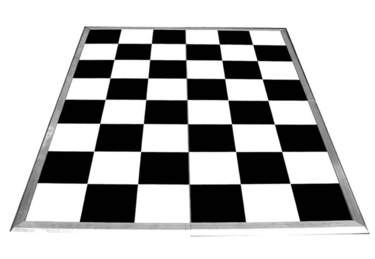 Dance Floor Black/White Check