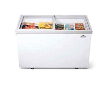 Horizontal Glass Top Freezer