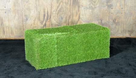 Green Grass 2'x4′ Ottoman
