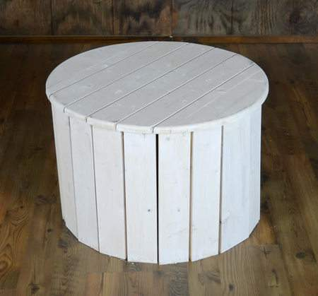 Side Table White Pallet