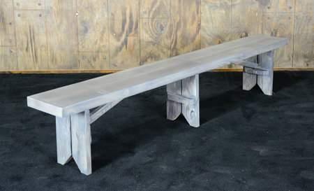 Driftwood Vineyard Bench 8'