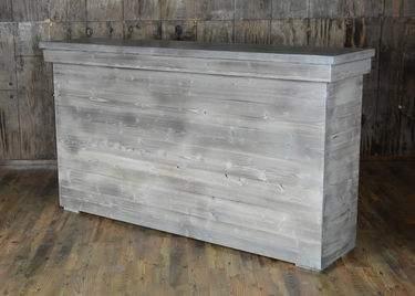 Rustic Driftwood Facade Bar 6'