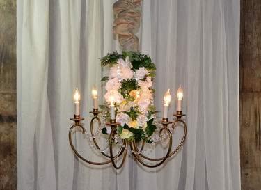 6 Light Antique Floral