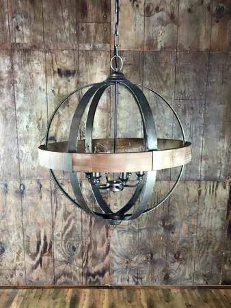 6 Light Metal Wood Sphere