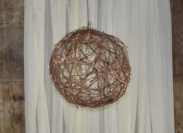 Lit Grapevine Ball 36""