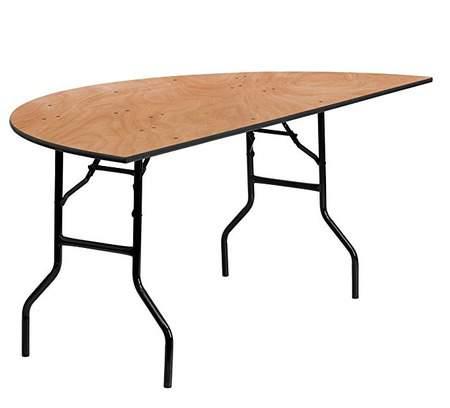 "Table Half Round 72"""