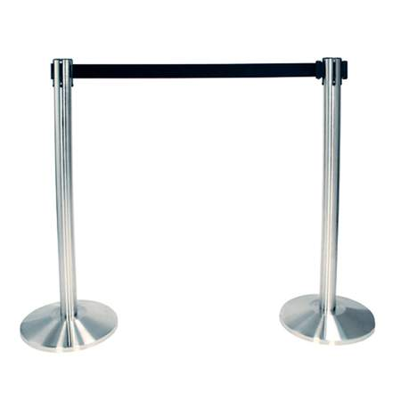 Chrome Stanchion with Retractable Belt