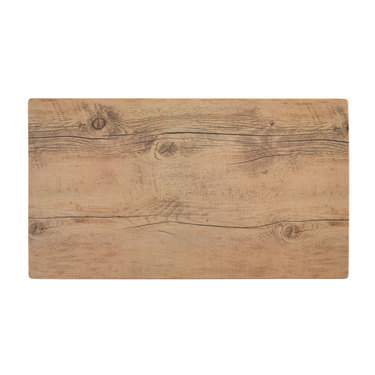 "18""x10"" Wood Pattern Melamine Tray"