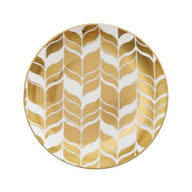 "Farrah Gold China 7.5"" Salad Plate"