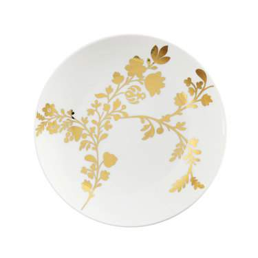 "Tabitha Gold China 7.5"" Salad Plate"