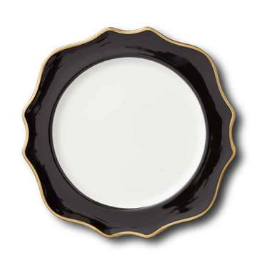"Trieste Black China 10.75"" Dinner Plate"