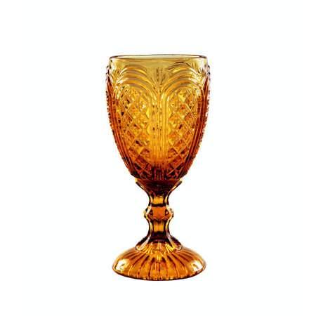 11oz Amber Carousel Glass Goblet