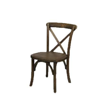 Child Antique Wood X-Back Farm Chair