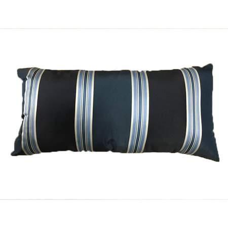 Navy Kidney Suit Stripe Pillow