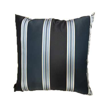 Navy Suit Stripe Pillow