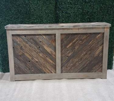 6' Reclaimed Chevron Facade Bar
