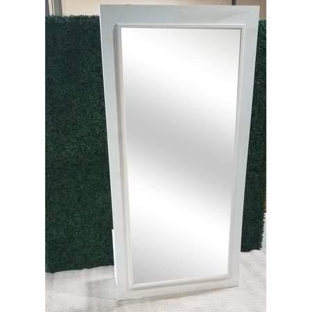 4'x8' White Mirror Divider