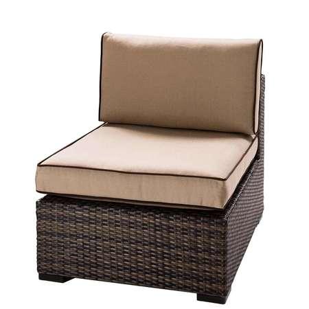 Tan Boca Armless Chair