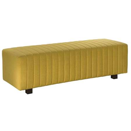 Yellow Beverly Bench Ottoman