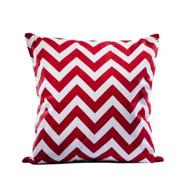 Red Chevron Pillow