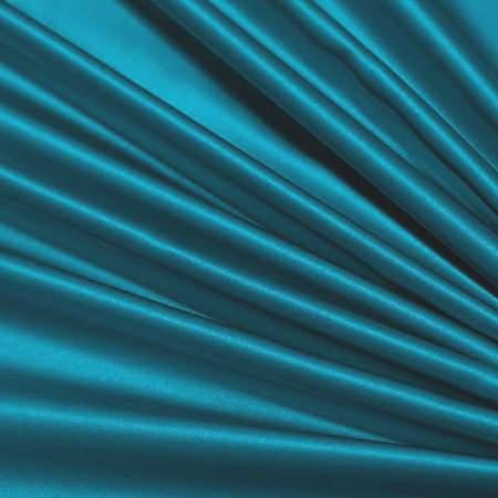 "Turquoise Satin - 90""x132"" Drape"