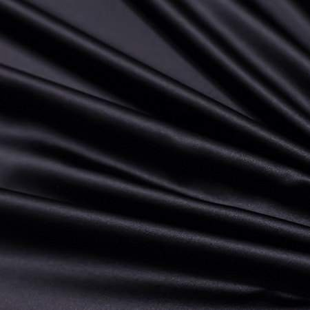 "Black Satin - 90""x156"" Drape"