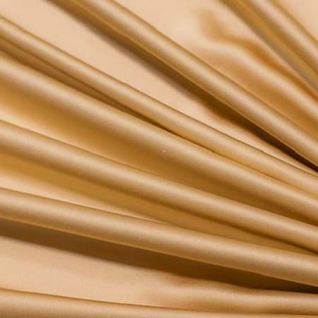 "Burnished Gold Crepe Satin - 90""x156"" Drape"
