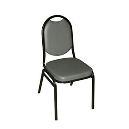 Grey Stacking Padded Chair