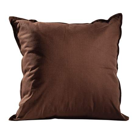 Earth Brown Solid Pillow