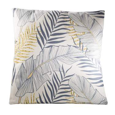 Gray and Yellow Tropical Pillow