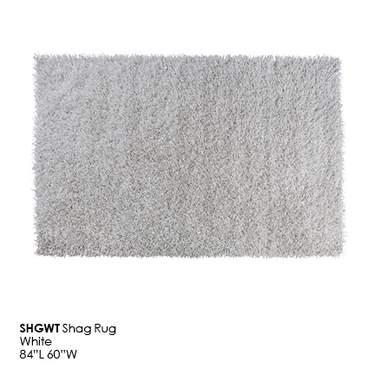 White Shag Rug