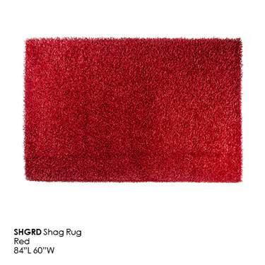 Red Shag Rug