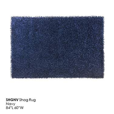 Navy Blue Shag Rug
