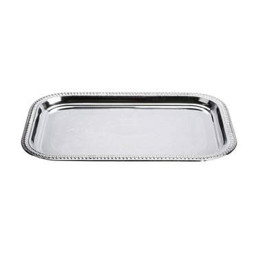 "Tray 12"" x 16"" Rectangle Silver"
