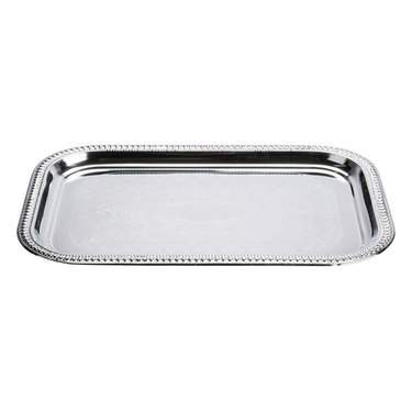 "18"" x 24"" Rectangle Silver Tray"