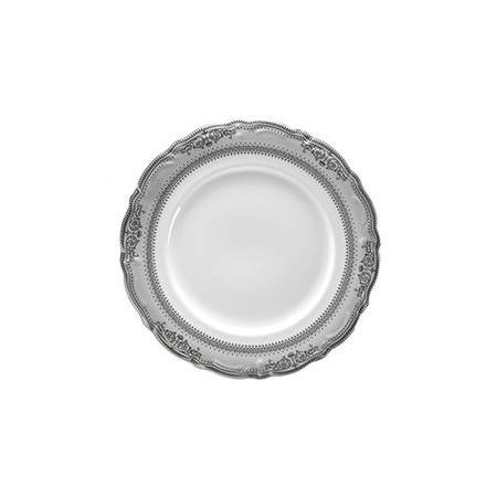 Vanessa Platinum Rim China - B&B Plate
