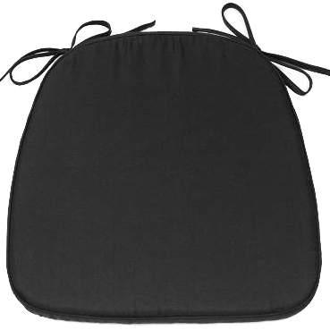 Chiavari Cushion Black Tie-On
