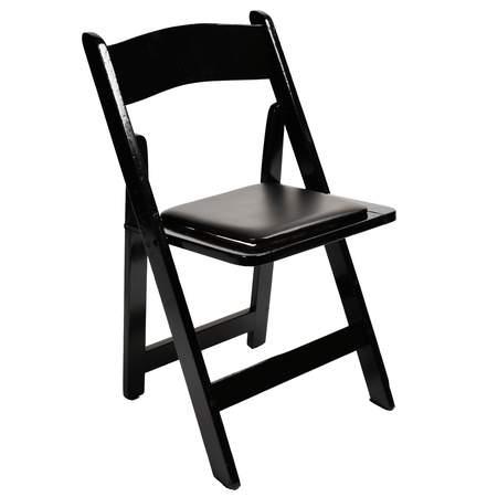 Wood Folding Chair Black